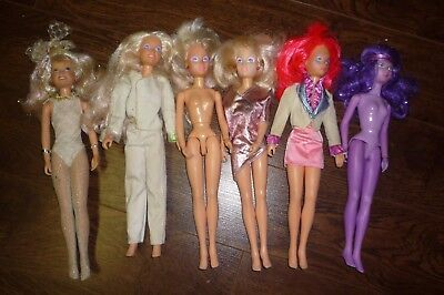 Jem And The Holograms Lot Of 6 Dolls 4 Jem Synergy Loose Original 1985 Hasbro