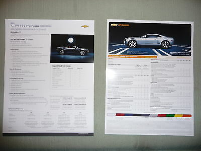 2011 Camaro Convertible & Coupe Facts Sheet NEW