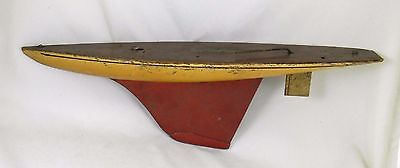"""Antique Chester R. Rimmer Seaworthy Pond Boat Model, Nice Old Paint, 21 1/4"""""""