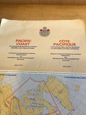 1977 Canadian Nautical Chart Catalogue, Pacific Coast Canada
