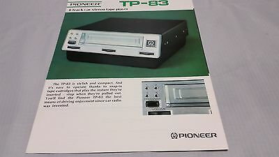 1970'S PIONEER TP-83 8 Tract  2-SIDED COLOR ADVERTISING & SPEC SHEETS