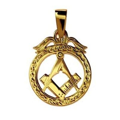 Masonic emblem in circle Pendant with bail - LR449