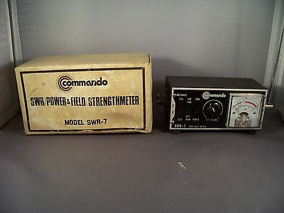 VINTAGE COMMANDO MODEL SWR-7 Power Meter and Field Strength Indictator