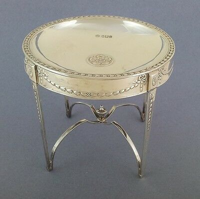 Sterling Silver Occasional Table Pin Card Trinket Tray Dish Sheffield 1910