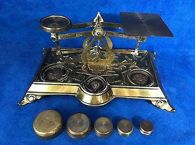 Antique Nouveau Deco Brass Scale Made in England