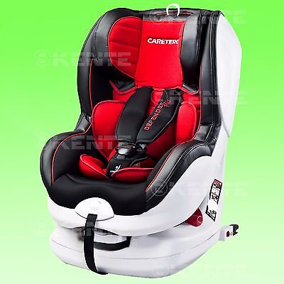 Baby Child Car seat Defender Rear and Forward Facing RED 0-18 kg ISO Fix base