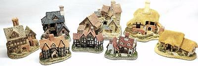 Lot 8X John Hine Limited David Winter Cottages Figures W/ Collector's Book