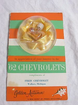 1962 Chevrolet Chevy Promo Item - 1/2 Dram Golden Autumn Perfume