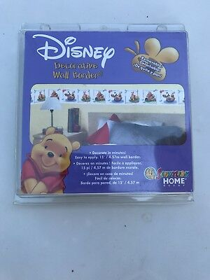 Disney Decorative Wall Border Peel & Stick Winnie the Pooh & Friends NEW