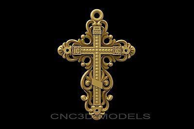 3D Model STL for CNC Router Engraver Carving Relief Artcam Aspire Cross 8927