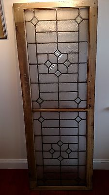 Antique Vintage Leaded Glass Window  66 X 24