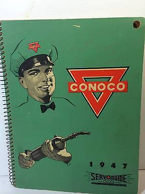 Vintage Conoco Service Station Serv Guide Gas Oil Petroliana Advertising 1947