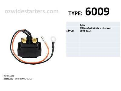 Yamaha solenoid suits all model jetskis from 2002-2013