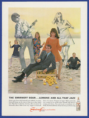 Vintage 1967 SMIRNOFF Vodka Alcohol Liquor Beach 60's Fashion Print Ad