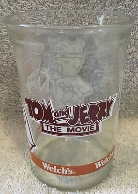 Collectible Welch's Jelly Jar/Glass TOM AND JERRY THE MOVIE 1993