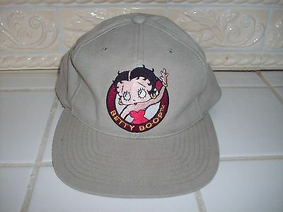 "Licensed Betty Boop Baseball Hat Cap - ""1993"" - Tan - One Size Fit All"