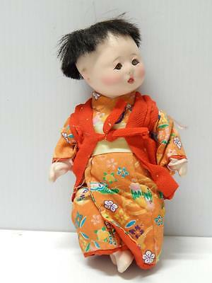 Fine Vintage Japan Japanese Ichimatsu Gofun / Composition Doll Silk Clothing