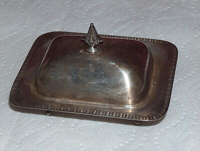 Silverplate Covered Butter Dish EPC 340 Hollowware Sheffield 6x5""