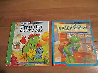 FRANKLIN The Turtle - Children's Picture Story Books x 2 - PAULETTE BOURGEOIS
