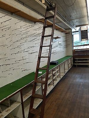 F. E. MEYER'S Cushion Tire Hardware Store/ Library Ladder and Track