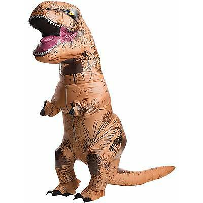 Inflatable Dinosaur Costume Adult  T-Rex Jurassic Dress Cosplay Halloween Fancy@