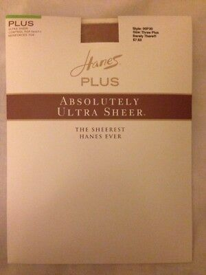 Women's Hanes Plus Ultra Sheer Control Top Pantyhose Barely There Sz 3 Plus NEW