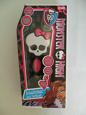 Girls Monster High Electric Battery Toothbrush & Holder Birthday Gift