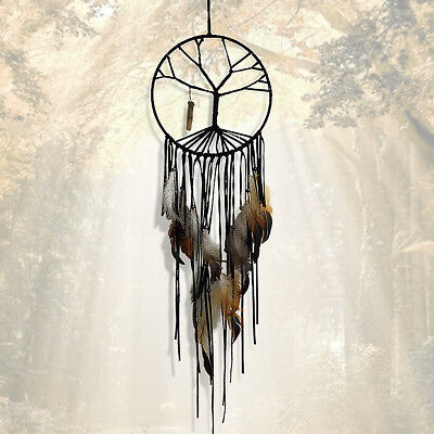 Life Tree Feather Dream Catcher Car Home Wall Hanging Decoration Ornament AU