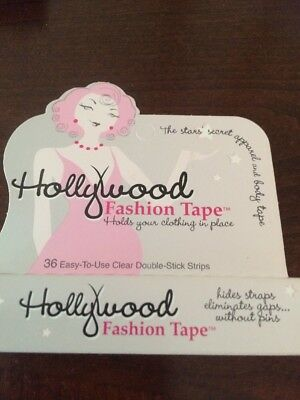 Hollywood Fashion Tape Holds Your Clothing in Place!