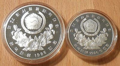 1986 Seoul South Korea Olympiad Proof Coins