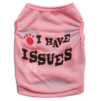 Small Teacup Dog Clothes Pet Puppy Cat Tee Shirt Vest for Chihuahua yorkie dogs
