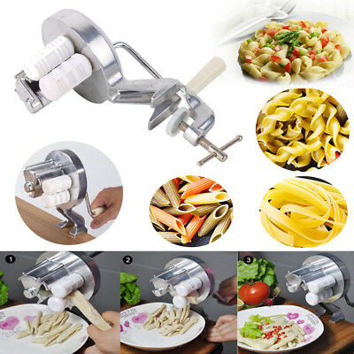 25cm Manual Pasta Maker Roller Machine Dough Making Fresh Noodle Maker Silver