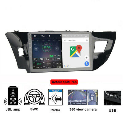 10.2 Inch Android 7.1 Sat Nav Car Stereo GPS for Toyota Corolla 2014-2016 Radio