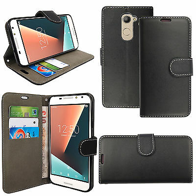 For Vodafone Smart N8 PU Leather Magnetic Closure Wallet Book Flip Case Cover