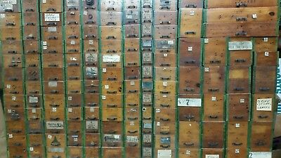 170 Plus Antique Wooden Hardware Store Cabinet Drawers With Original Pulls