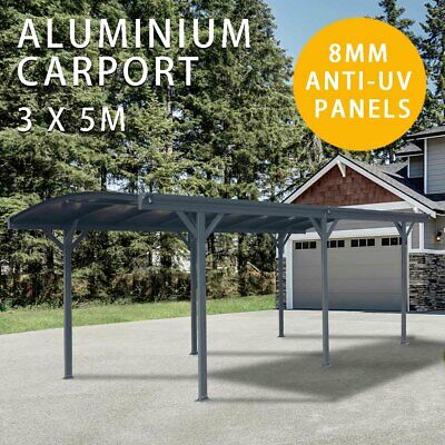 Carport 3m x 5m Outdoor Canopy Car Port Aluminium Portable