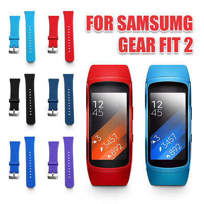 Silicone Soft Replacement Watch Band Strap + Film For Samsung Gear Fit 2 SM-R360