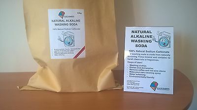 Natural Alkaline Washing Soda (100% Soda Ash) for laundry and cleaning 24kg Bag