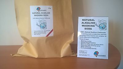 Natural Alkaline Washing Soda for laundry and cleaning 24kg Bag
