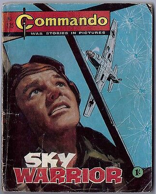 "Dated 1965. Vintage COMMANDO War Picture Comic # 175. ""Sky Warrior"""