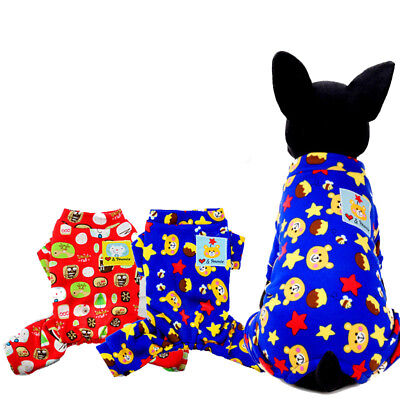 Pet Dog Clothes Cartton 2017 Winter New Dog Christmas gift  Warm Lovely Jumpsuit