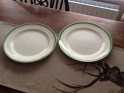 """Two Queens Green ( Solian Ware ) plates10"""""""