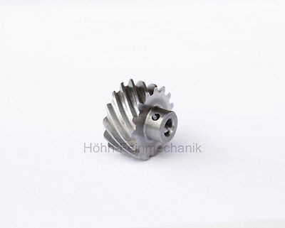 Spur Gear, Helical, 45° helical Teeth, Module 0,8, from Steel, Z15