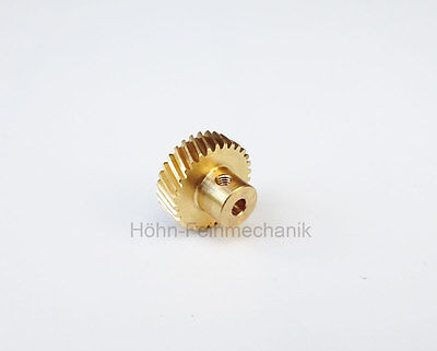 Spur Gear, Gear, 20° Oblique Geared, Module 0,5, made from Brass, Z30, Right