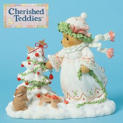 CHERISHED TEDDIES JOY, WINTER CHRISTMAS 6TH in SERIES, 2014, SNOWMAN, NEW in Box