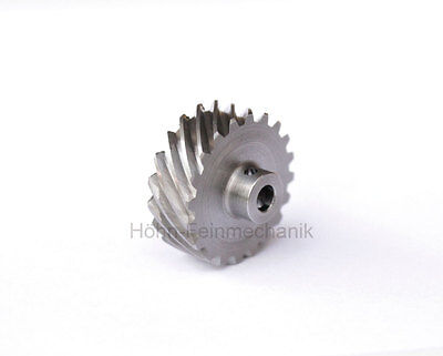 Spur Gear, Helical, 45° Oblique Toothed, Module 0,8, from Steel, Z20