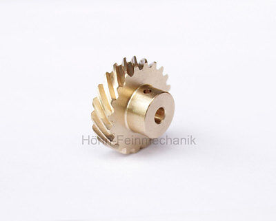 Spur Gear, Helical, 45° Oblique Geared, Module 0,8, made from Brass, Z20