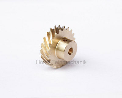 Spur Gear, Helical, 45° Oblique Toothed, Module 0,8, from Brass, Z20
