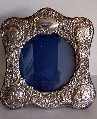 Hallmarked Silver Frame - Heavily Detailed & Embossed with Angels & Cherubs