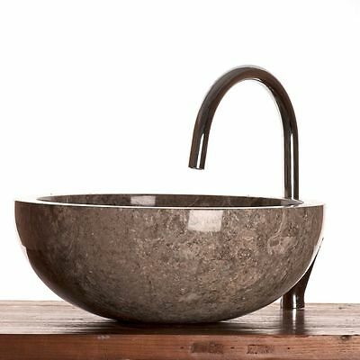 Grey Marble Stone Basin 40 cm ( WA002 ) for bathrooms.